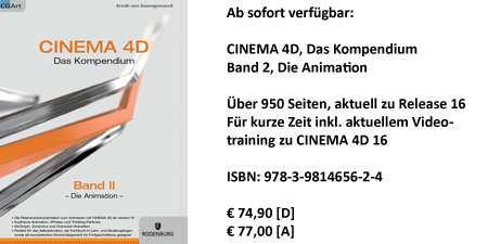 CINEMA 4D, Das Kompendium, Band 2, Die Animation